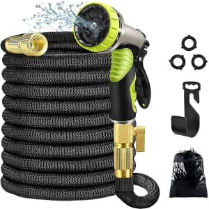 Aottom 50-Foot Expandable Garden Hose with Spray Nozzle for $17
