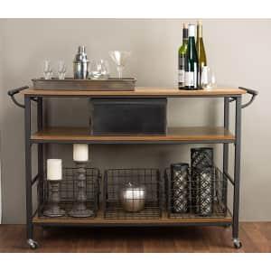 Baxton Studio Lancashire Wood and Metal Kitchen Cart for $113