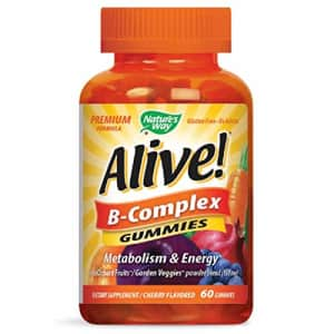 Nature's Way Alive! B-Complex Gummies, Food-Based Blend (150mg per serving), Gluten Free, Made with for $13