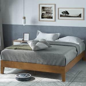 Zinus Alexis Deluxe Wood Queen Platform Bed Frame for $170