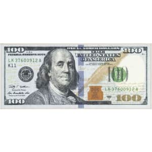 """Ottomanson Siesta Collection One Hundred Dollar Bill 22"""" x 53"""" Rug for $16"""