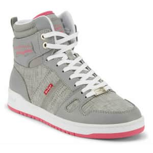 Levi's Women's Synthetic Leather High Top Sneakers for $36 or 2 for $65