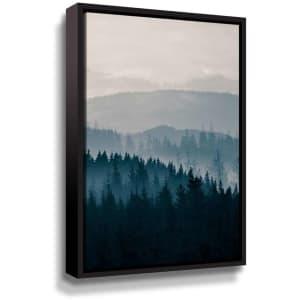 "ArtWall ""Blue Mountains II"" 16"" x 24"" Framed Canvas Wall Art for $51"