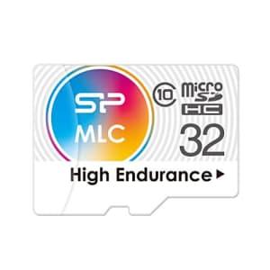 Silicon Power 32GB High-Endurance microSDHC CL10 MLC Memory Card for $20