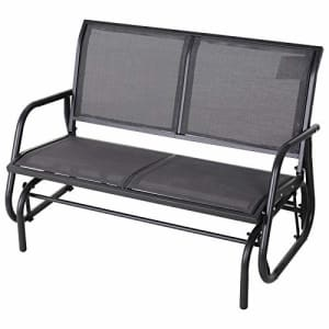 Outsunny 2-Person Outdoor Glider Bench Double Rocking Chair Loveseat w/Armrest for Patio Garden for $135