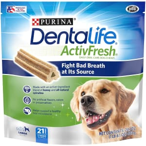 Purina DentaLife Adult Large Breed Dental Dog Chew Treat 21-Pack for $6.79 via Sub & Save