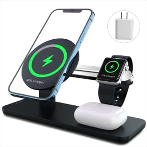 Anpules 3-in-1 Magnetic Wireless Charging Station for $16