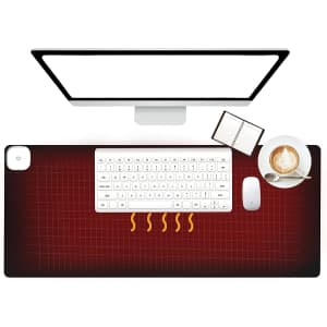 """Slyucao 31"""" x 13"""" Touch-Control Heated Mouse Pad for $14"""