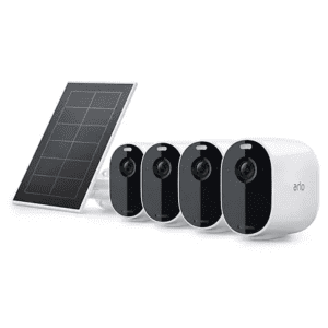 Arlo Essential Spotlight Camera 4-Pack with Solar Panel for $299 for members