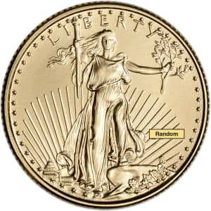 2021 1/10-oz. Gold American Eagle $5 Coin for $221