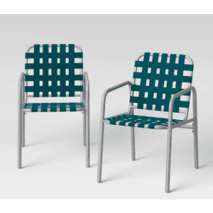 Project 62 Acton Strapping Patio Club Chairs 2-Pack for $102