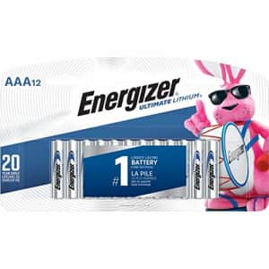 Eveready L92SBP12 Ultimate Lithium Batteries, AAA, 12/Pack for $23