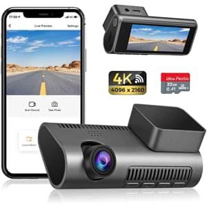 Peztio 4K HD WiFi Car Dash Cam for $90