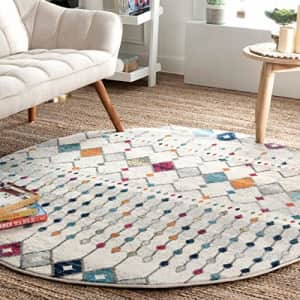 """nuLOOM Moroccan Blythe Area Rug, 6' 7"""" x 9' Oval, Multi for $98"""