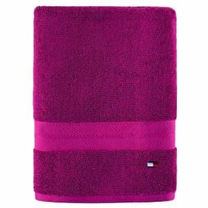 Tommy Hilfiger Modern American Bath Towel, 30 x 54 inch, Raspberry Rose for $24