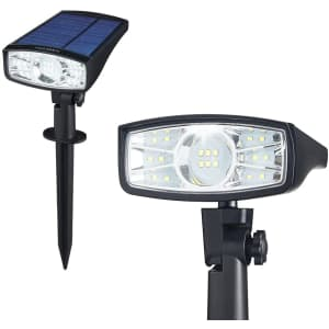 SainSonic LED Solar Landscape Spotlight 2-Pack for $30