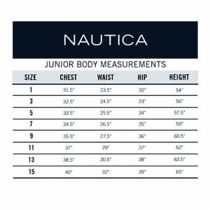 Nautica Girls' Juniors Uniform Stretch Bermuda Short, Navy, 7 for $18