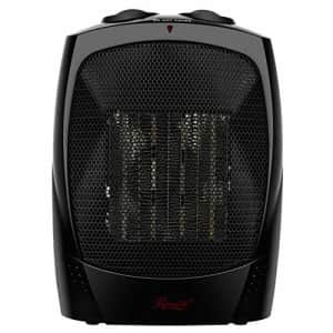 Rosewill Space Heater, Bathroom Heater with Adjustable Thermostat, Ceramic Element, Safety Tip Over for $30