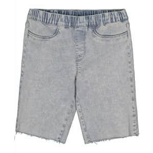Calvin Klein Girls' Bermuda Denim Shorts, Super Soft Stretch Fabric, Functional Pockets, Zipper for $18