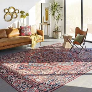 """Artistic Weavers Area Rug, 3'6"""" x 5'6"""", Bright Red/Wheat for $55"""