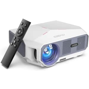 Cooau 5,500-Lumen Projector for $110