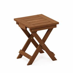 Furinno FG18556 Tioman Hardwood Patio Furniture Outdoor Folding Table Small, Natural for $49
