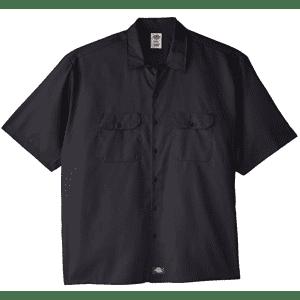 Dickies Men's Short-Sleeve Flex Twill Work Shirt in Big Sizes for $27