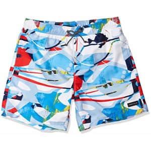 Perry Ellis Men's Printed Water Resistant Swim Shorts, Malibu Blue, Large for $24