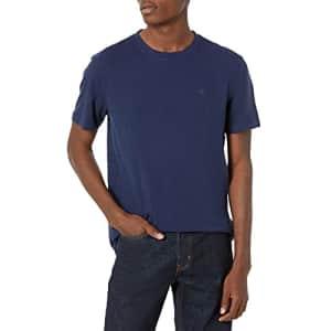 Calvin Klein Men's Short Sleeve Monogram Logo T-Shirt, Peacoat, Small for $24