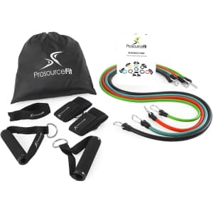 ProsourceFit Premium Stackable Exercise Resistance Band Set for $27