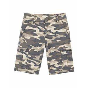 Wrangler Boys' Straight Fit Cargo Shorts, Quiet Shade Camo, 10 Husky for $17