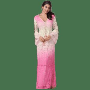 Venus Women's Ombre Lace Maxi Dress for $30