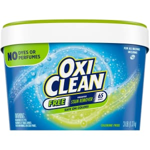 OxiClean Versatile Stain Remover 3-lb. Tub for $5 via Sub & Save