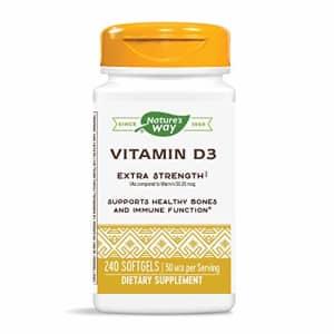 Nature's Way Vitamin D3 Extra Strength; 2000 IU per serving; 240 Softgels for $17