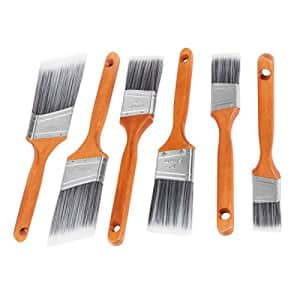 ETERNA 6Pack Paint Brush PET PBT Blend Filaments Wooden Handle Angel Brushes Set of 1.5inch 2inch for $20