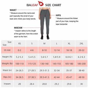 BALEAF EVO Women's Athletic Joggers Quick Dry Workout Outdoor Pants Zippered Pockets Lightweight for $32