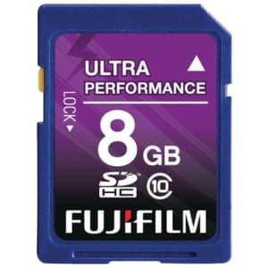 Fujifilm 8 GB SDHC Class 10 Flash Memory Card for $16