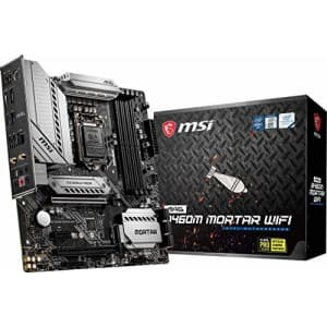 MSI MAG B460M Mortar WiFi Gaming Motherboard (mATX, 10th Gen Intel Core, LGA 1200 Socket, DDR4, for $184