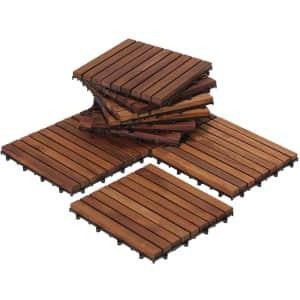 Bare Decor EZ-Floor Interlocking Flooring Tiles 10-Pack for $73