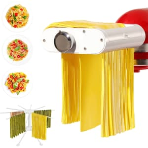 Antree 3-in-1 Pasta Roller and Cutters Set for KitchenAid Stand Mixers for $50