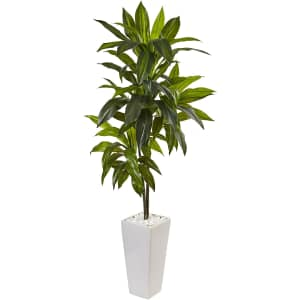 Nearly Natural 3-Foot Indoor Dracaena Artificial Plant w/ Tower Planter for $71