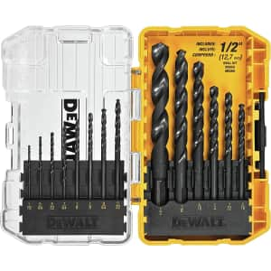 DeWalt 14-Piece Twist Drill Bit Set for $16