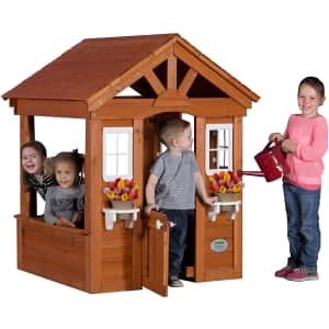 Backyard Discovery Columbus All Cedar Wood Playhouse for $385