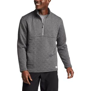 Eddie Bauer Men's Expedition Quilted 1/2-Zip Pullover for $30