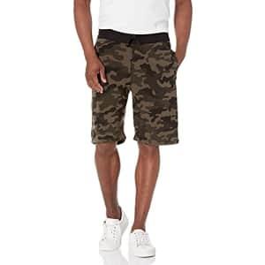 Southpole Men's Camo Fleece Shorts, Woodland, Medium for $15