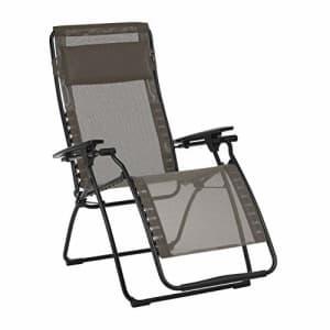 Lafuma Futura Zero Gravity Patio Recliner (Graphite Grey Batyline Canvas) Outdoor Folding Lounge for $249