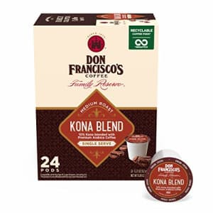 Don Francisco's Kona Blend (24 Count) Recyclable Single-Serve Coffee Pods, Compatible with Keurig for $13