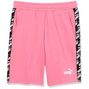 """PUMA Men's Amplified Shorts 9"""" French Terry, Bubblegum, L for $20"""