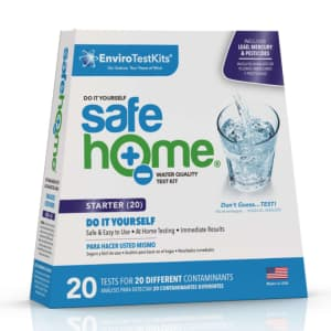 Enviro Test Kits Safe Home Water Quality Test Kit for $20