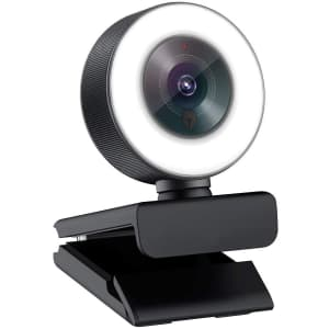 Angetube 1080p Webcam w/ Light Ring for $60